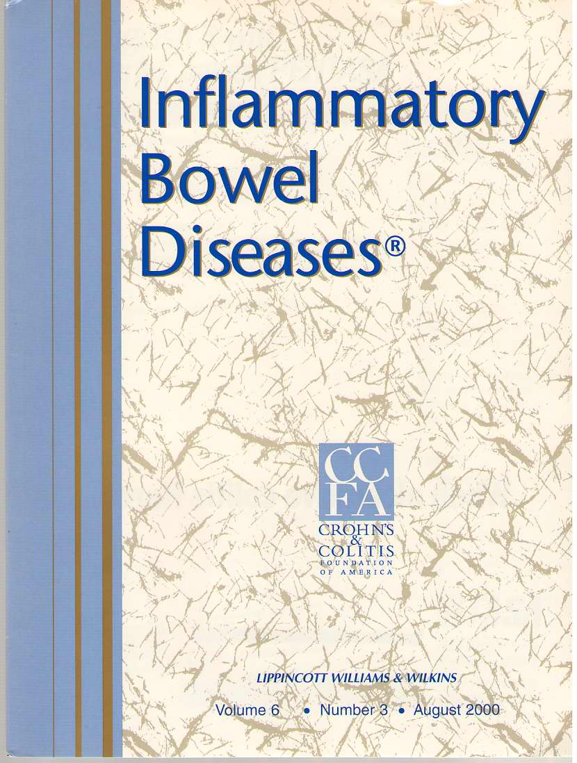 Image for Inflammatory Bowel Diseases: Official Journal Of The Ccfa Volume 6 - Number 3 - August 2000