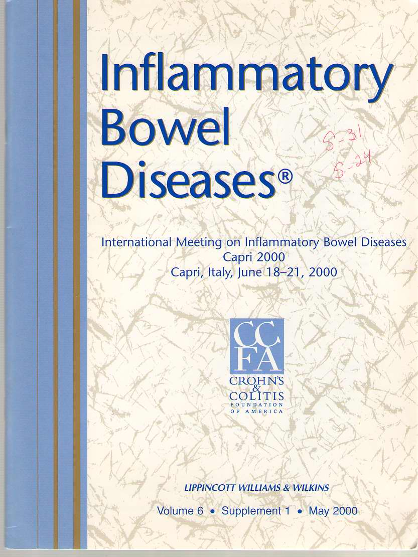 Image for Inflammatory Bowel Diseases: Official Journal Of The Ccfa Volume 6 - Supplement 1 - May 2000