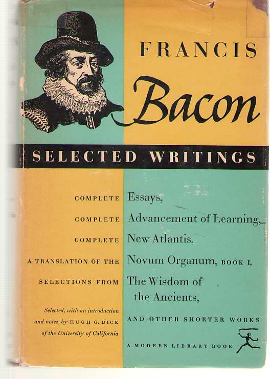 Image for Selected Writings Of Francis Bacon