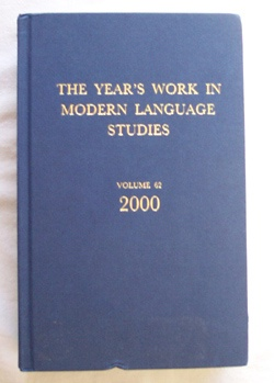 Image for The Year's Work In Modern Language Studies Covering the Year 2000