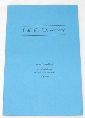 Image for Safe For Democracy
