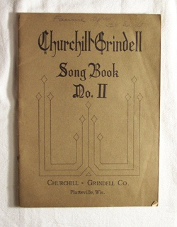 Image for Churchill Grindell Song Book - No II Contains Songs for the Primary and Intermediate Grades